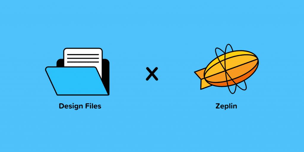 اشتباه طراحی پوشه حاوی پرونده های طراحی و نماد zeplin.io