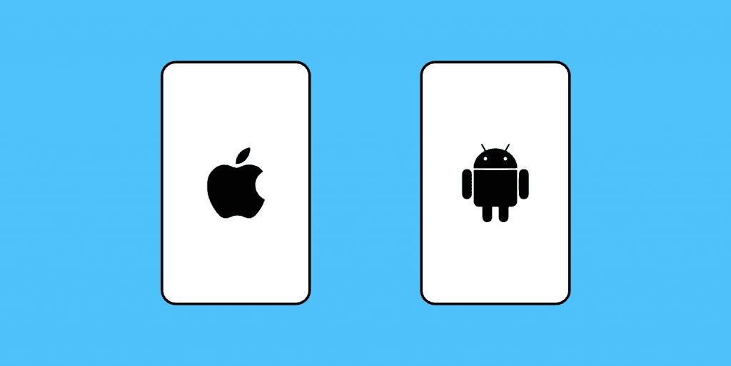 نمادهای IOS و Android